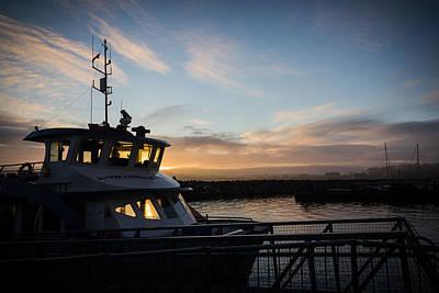 Photograph - Fast Ferry Silhouette by Alex Leonard