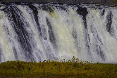 Pour Photograph - Fast Flowing Cohoes Falls by Garry Gay