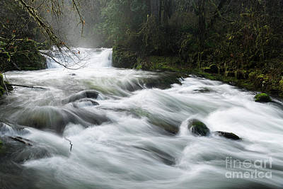 Strong America Photograph - Fast-flowing Creek by Masako Metz