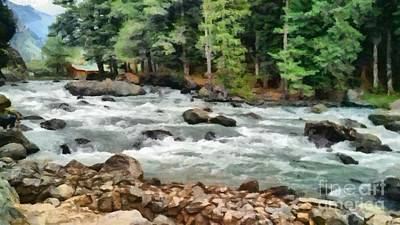 Photograph - Fast Flowing Lidder by Ashish Agarwal
