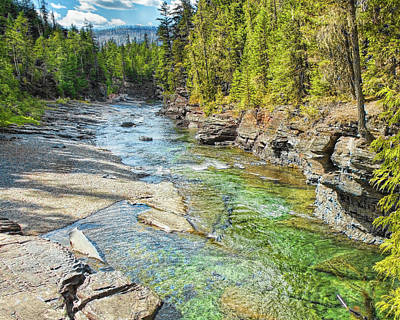 Photograph - Fast Flowing Water by John M Bailey