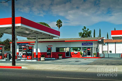 Photograph - Fast Food Gas Station by David Zanzinger