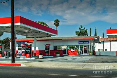 Photograph - Fast Food Gas Station by David Zanzinger