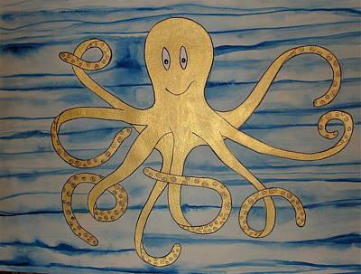 Painting - Fast Freddie The Octopus by Erika Swartzkopf