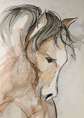 Sporthorse Mixed Media - Fast Friend by Jennifer Fosgate