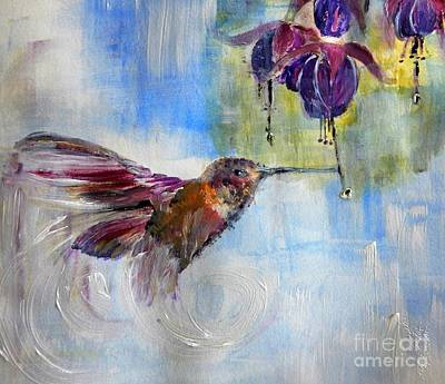 Painting - Fast Fuchsia Checkout by Lisa Kaiser