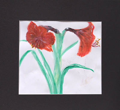 Fast Paint Red Flowers Art Print by Jonathan Galente