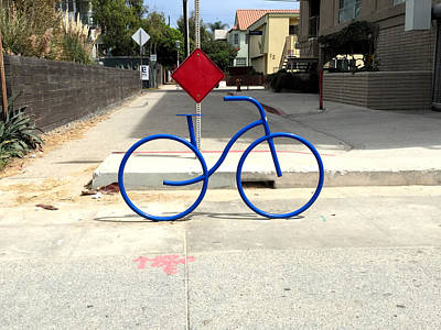 Photograph - Fast Ride Bicycle Art by Nancy Merkle