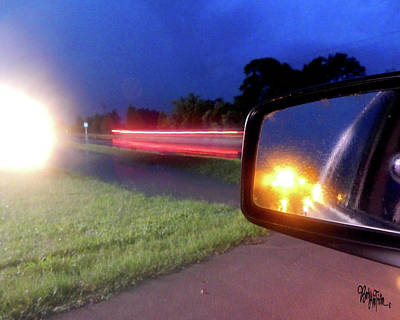 Photograph - Fast Traffic Reflections #6242 by Barbara Tristan
