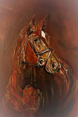 Painting - Fasten With A Buckle by Khalid Saeed
