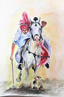 Painting - Fastest Pace by Khalid Saeed