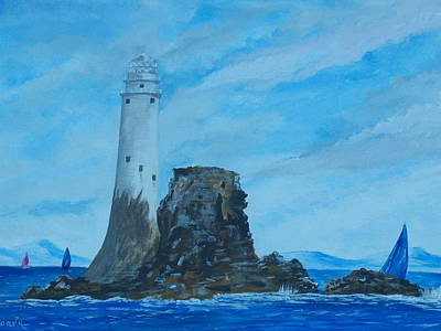Fastnet Rock Lighthouse. Art Print