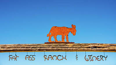 Photograph - Fat Ass Ranch - Winery Entrance by Debra Martz
