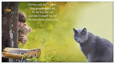 Digital Art - Fat Cat by Al G Smith