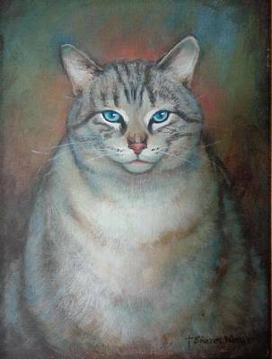 Painting - Fat Cat by Sharon Weaver