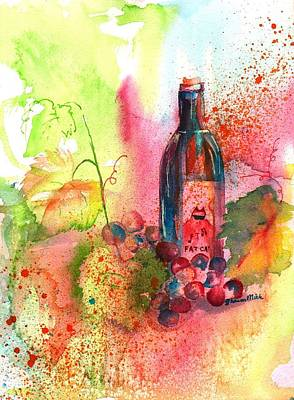 Fat Cat Wine Art Print