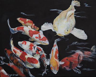 Painting - Fat Fish In Seattle by Sierra Logan