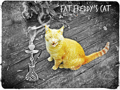 Photograph - Fat Freddy's Cat by Absinthe Art By Michelle LeAnn Scott
