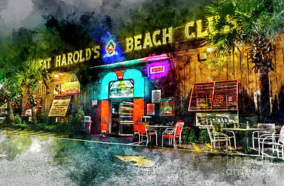 Photograph - Fat Harold's - Digital Watercolor by David Smith