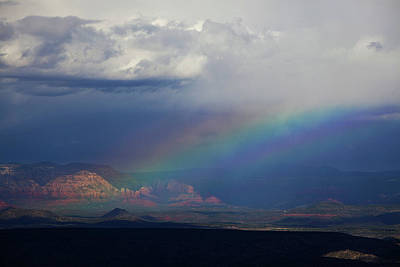Art Print featuring the photograph Fat Rainbow, Sedona Az by Ron Chilston