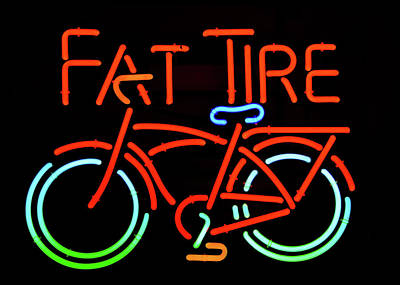 Photograph - Fat Tire Neon Beer Sign by David Lee Thompson