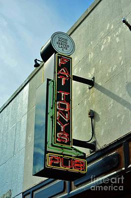 Photograph - Fat Tonys Pub Sign by Bob Sample