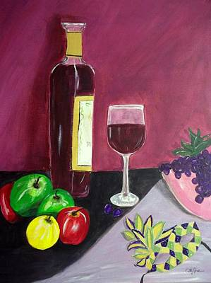 Painting - Fat Tuesday Evening Still Life Mardi Gras by Cathy Jourdan