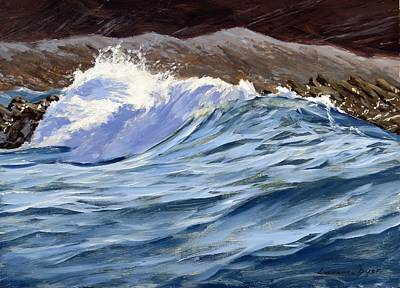 Painting - Fat Wave by Lawrence Dyer