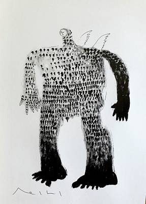 Drawing - Fates Guardian  by Mark M Mellon