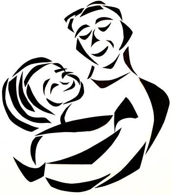 Father And Child Art Print by Delin Colon