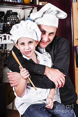 Father And Child Spending Quality Time Cooking Print by Jorgo Photography - Wall Art Gallery