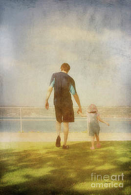 Photograph - Father And Daughter Holding Hands By Claudia Ellis by Claudia Ellis