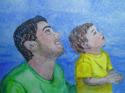 Painting - Father And Son by Anna Ruzsan