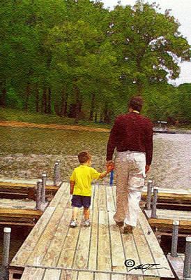 Painting - Father And Son by Dale Turner