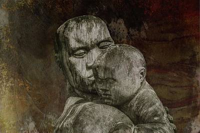 Mixed Media - Father And Son Eternal Bond  by David Dehner