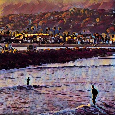 Father And Son Art Print by John Pierpont