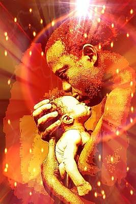 Digital Art - Father And Son  by Karen Buford