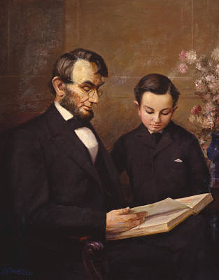 Abraham Lincoln Photograph - Father And Son by Lewis A Ramsey