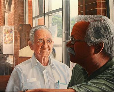 Painting - Father And Son by Mike Ivey