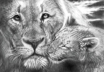 Drawing - Father And Son by Peter Williams