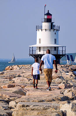 Photograph - Father And Son, South Portland, Maine  -86628 by John Bald
