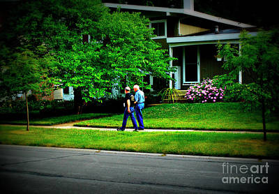 Frank J Casella Royalty-Free and Rights-Managed Images - Father and Son Wisdom Walk by Frank J Casella