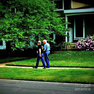Photograph - Father And Son Wisdom Walk - Square by Frank J Casella