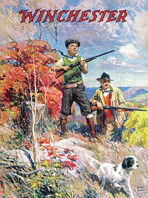 Painting - Father And Son With Bird Dog by Arthur S Fulton