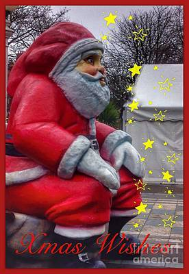 Photograph - Father Christmas Greeting 3 by Joan-Violet Stretch