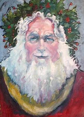 Painting - Father Christmas by Kevin McKrell