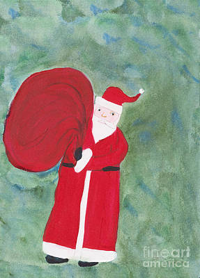 Painting - Father Christmas by Maura Satchell