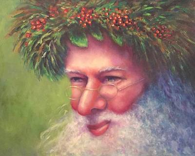 Painting - Father Christmas by Shannon Grissom