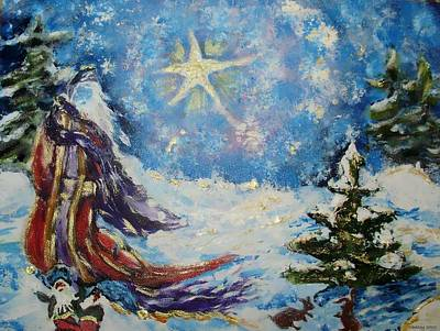 Painting - Father Christmas by Shelley Bain