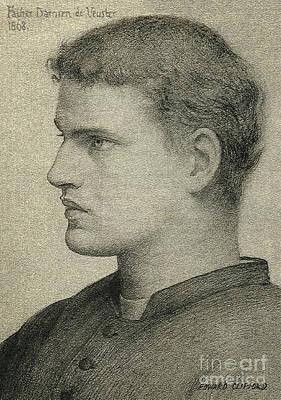 Father Damien De Veuster Art Print by James Temple